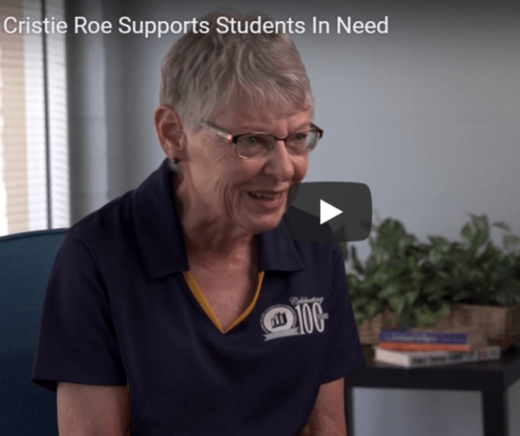 Cristie Roe Supports Students In Need