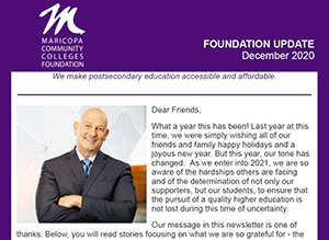 December Issue of Foundation Newsletter Now Available